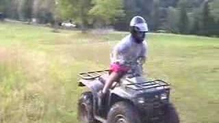 Dirtbike burnout and ATV Wheelies