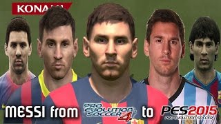 MESSI from PES 4 to PES 2015