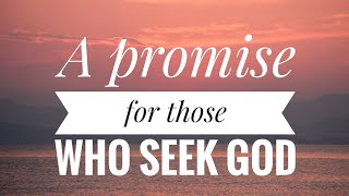 A promise for those who seek god ( Paul Washer )