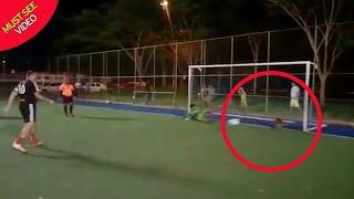Stray dog saves a penalty.....