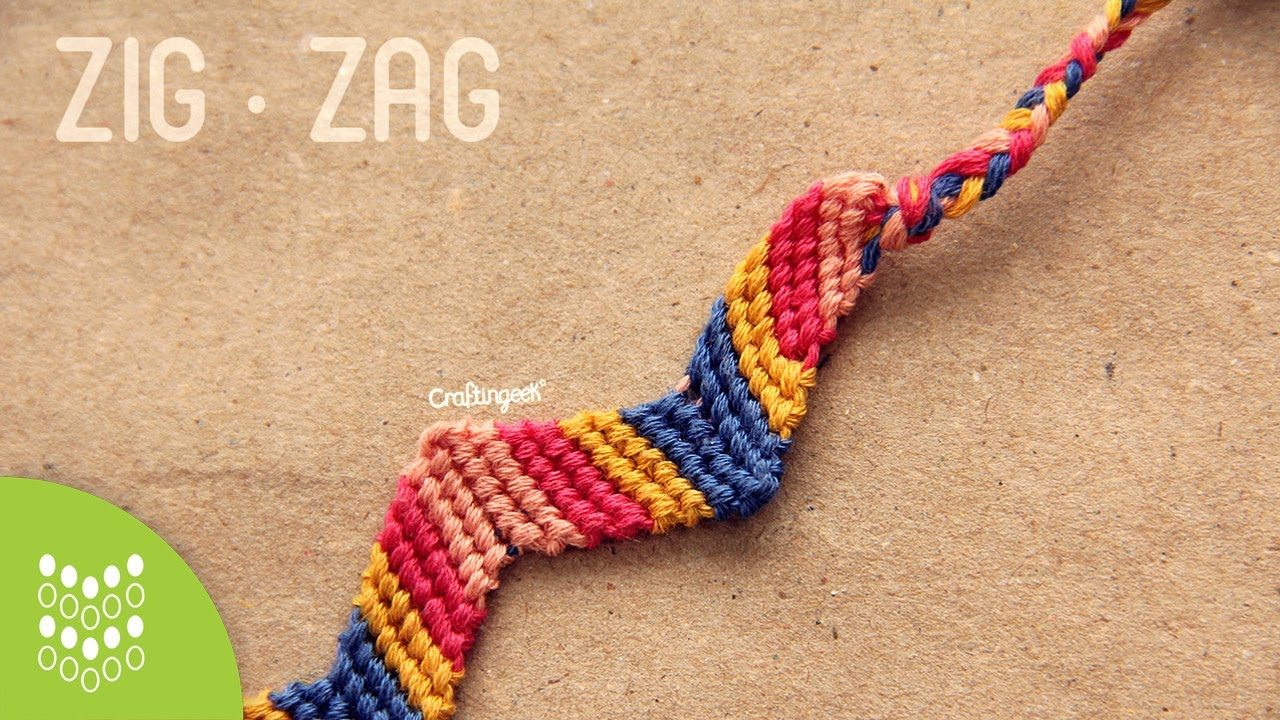 13edef7fd3d9 Pulsera de hilo: Zigzag // Friendship Bracelet