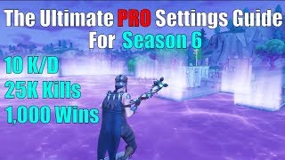 The Ultimate Settings Guide For Fortnite Season 6 | Best Sensitivity/Settings Console Fortnite