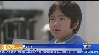 'Ryan's World' Star Marvels At Seeing Himself Everywhere