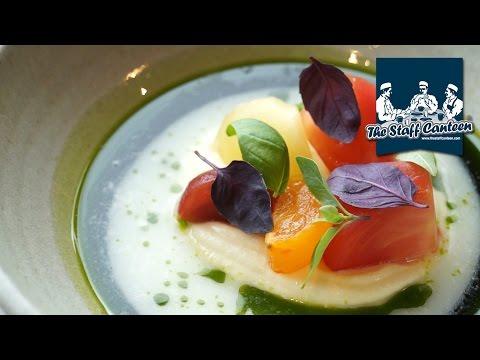 Michelin star chef Brad Carter creates heritage tomato and trout recipes