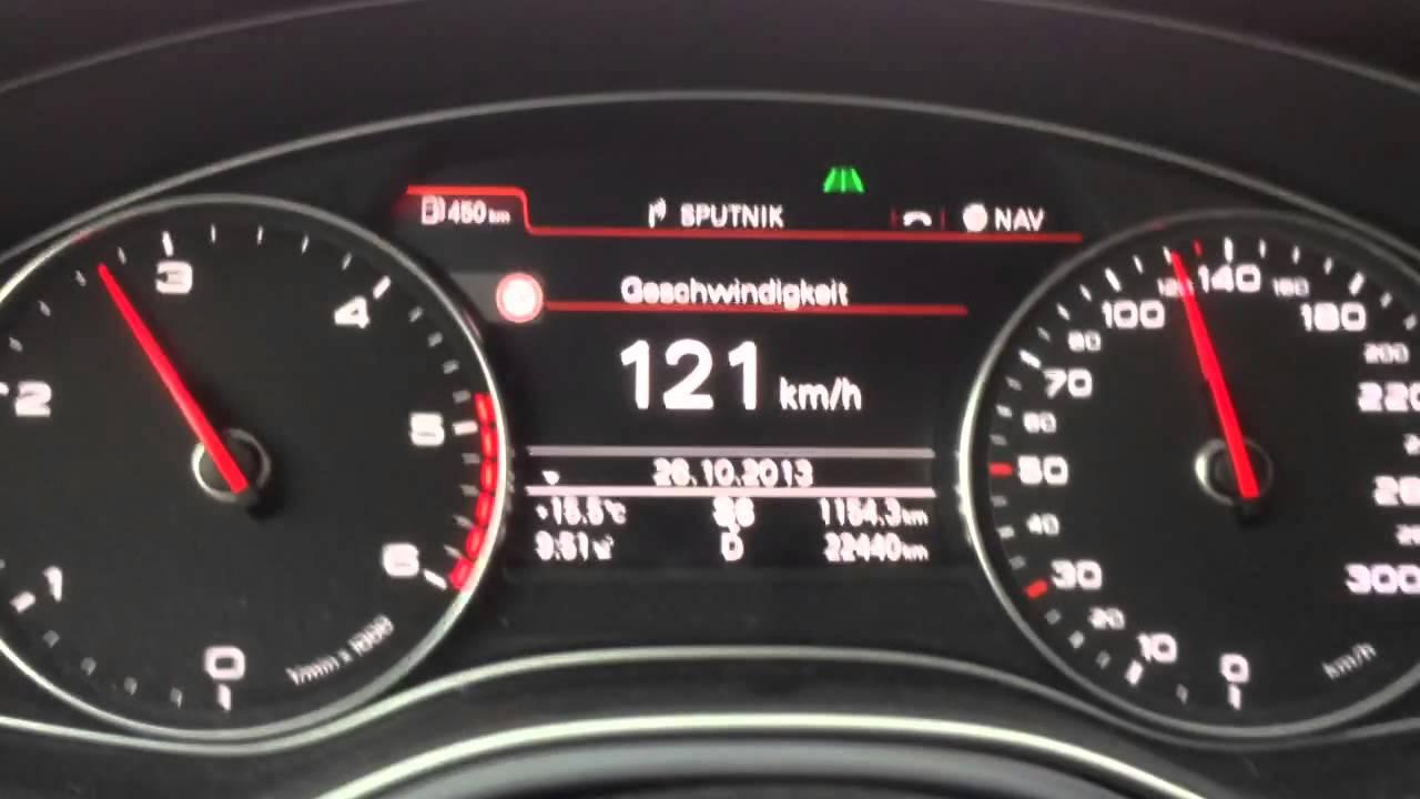 Audi A6 Tdi 190 Ps Startet Und Gibt Gas Tacho Und Head