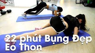 2 Em Hot Girl & 22 Phút Tập Bụng Đẹp Eo Thon | HLV Fitness Ryan Long