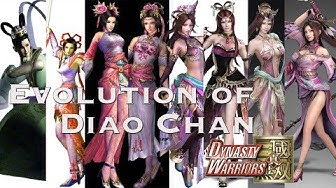 Evolution of Diao Chan from DW1 to 9