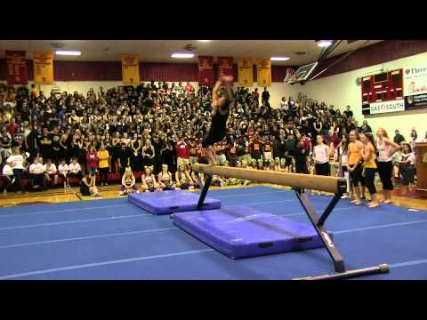 Homecoming Pep Rally - Gymnastic Performance
