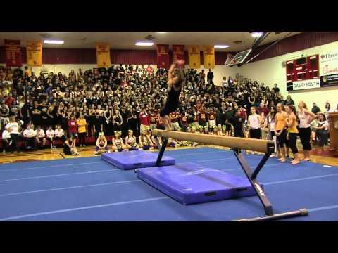 Homecoming Pep Rally - Gymnastic Performance