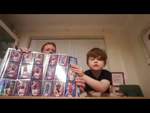 Match attax 2016/2017 binder with free giveaway Wayne Rooney 100 club
