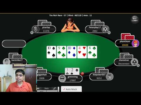 Sunday Poker Live Stream (In Hinglish) - High Value Tournaments On Indian Sites - Stream 01