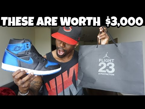 JORDAN 1 SATIN ROYAL CRAZY PICK UP VLOG!!