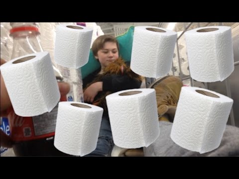 3 STORY TOILET PAPER FORT!!!
