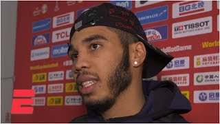 Jayson Tatum, Kemba Walker speak after USA's wild win vs. Turkey | 2019 FIBA World Cup