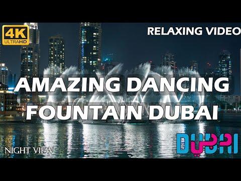 Beautiful & Amazing Dancing Fountain Show in Dubai 2021 | Visit UAE | Relaxing Video