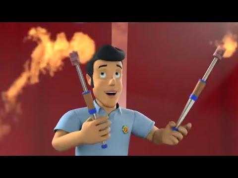 Strażak Sam bajki po polsku nowe odcinki   Elvis żonglował ogniem 🔥Bajki dla dzieci