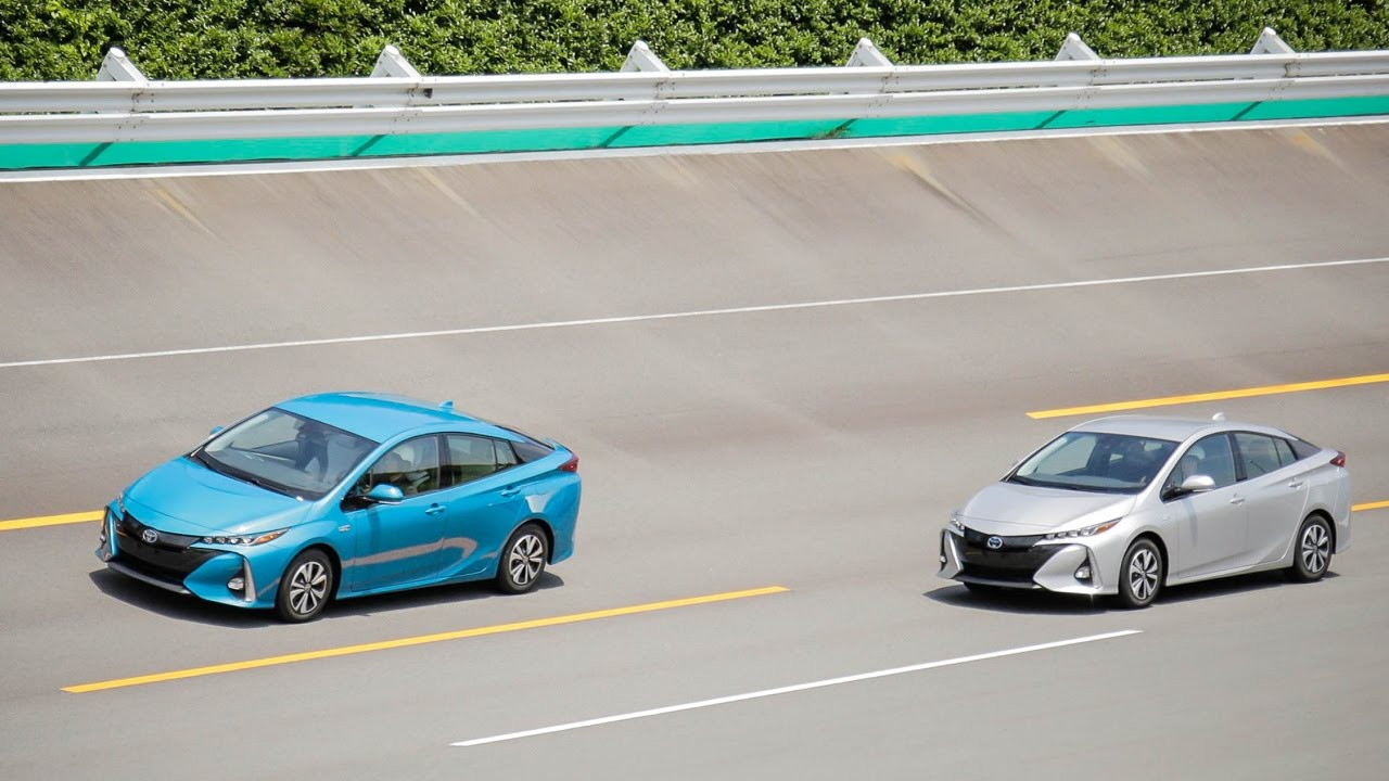 Test Driver 2017 Toyota Prius Prime Plug In Hybrid Top Speed - YouTube