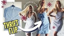3 Kleider aus Herrenhemden nähen   3 Methoden! (Reformation Cami Dress THRIFT FLIP)