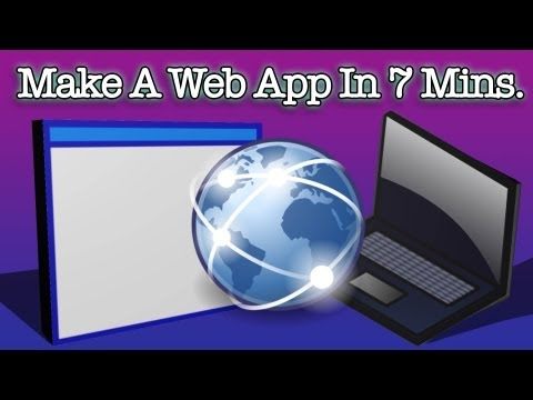 How To Make A Web App In 7 Minutes