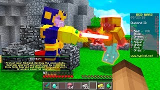 THANOS PLAYS MINECRAFT BED WARS! (AVENGERS INFINITY WAR)