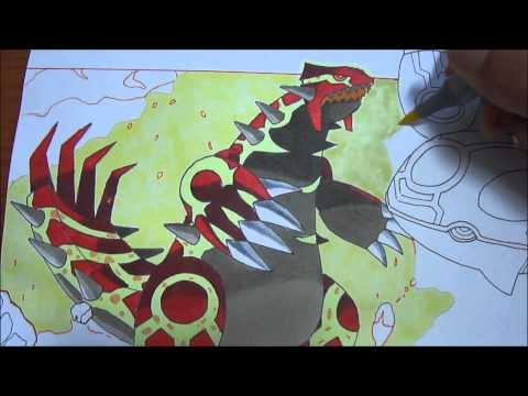 Copic speed draw Primal Groudon and Primal Kyogre ゲンシグラードン and ゲンシカイオーガ