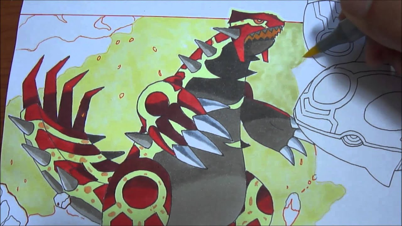 Primal Kyogre copic speed draw primal groudon and primal kyogre ゲンシグラードン