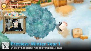Winter wonderland in Story of Seasons: Friends of Mineral Town