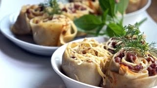 Savoury Crepe Ground Beef Rolls Easy And Delecious  !!