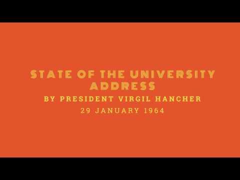 State of the University Address by President Virgil Hancher - 29 January, 1964