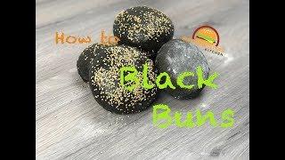 How to make delicious organic Black Burger Buns