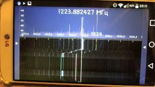 Проверка наводок малины в районе частот GPS
