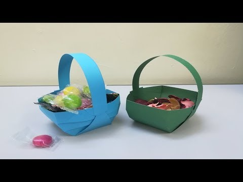 Origami : Paper Basket Making | How To Make a Paper Basket Easy