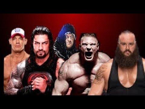 Roman Reigns Vs Brock Lesnar Vs John Cena Vs Under Taker Vs Braun Strowman | (Custom Moments)