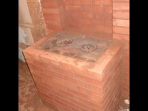 Кладка кирпичной дачной печи( стоимость материалов 11 тыс.руб.) часть 1/2