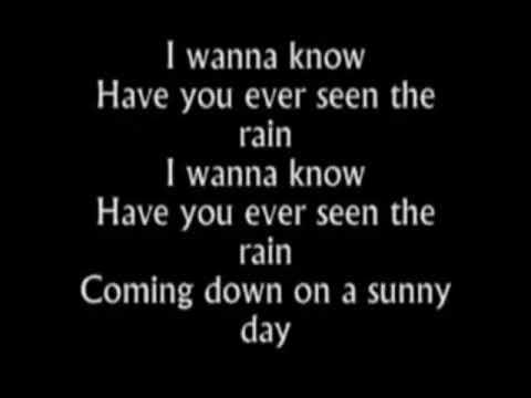 """Have You Ever Seen The Rain-Rod Stewart (lyrics)-lMiJvj6gFg4"""