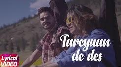 Tareyaan De Des | Lyrical Video | Prabh Gill | Desi Routz | Latest Punjabi Song 2018