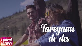 Tareyaan De Des | Lyrical | Prabh Gill | Desi Routz | Latest Punjabi Song 2018