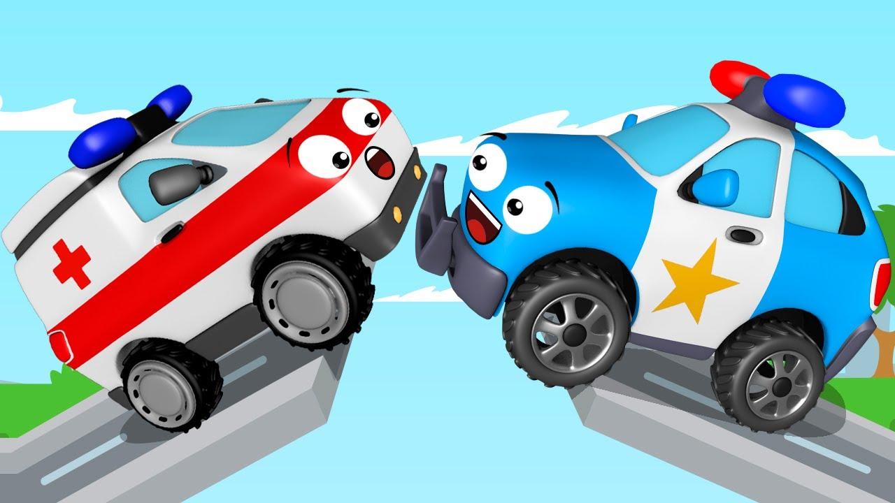 Voiture de police pour b b s dessin anim en fran ais voitures pour les enfants youtube - Voiture police dessin anime ...
