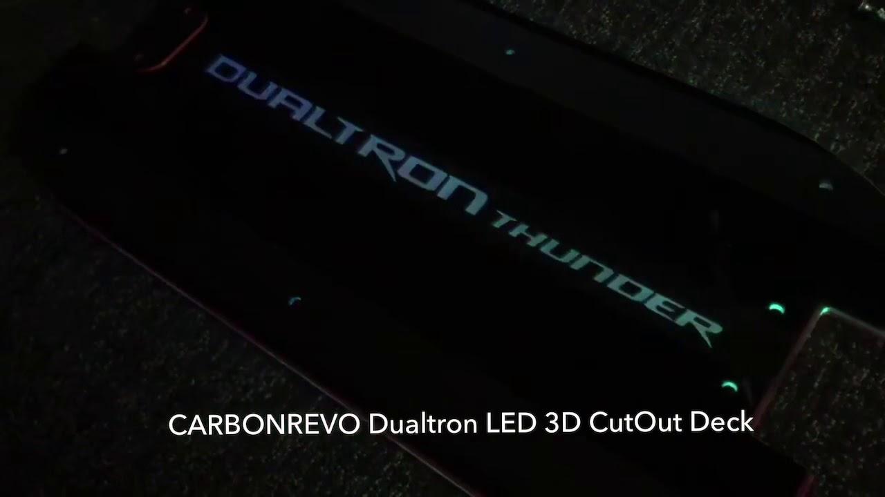 Carbonrevo Deck Cover for Dualtron - Custom Design - LED 3D –