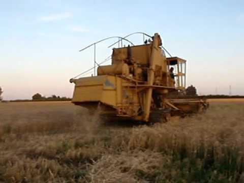 Combine Harvester Woodland California