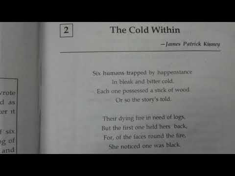 SIDHU Online Class- IX- ICSE-The Cold Within - Part - 1