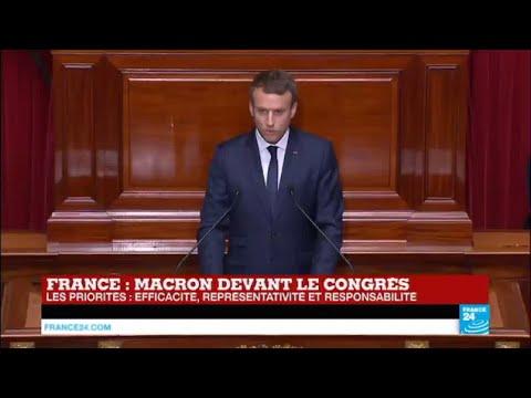 REPLAY - Discours d'Emmanuel Macron devant le Congrès à Versailles