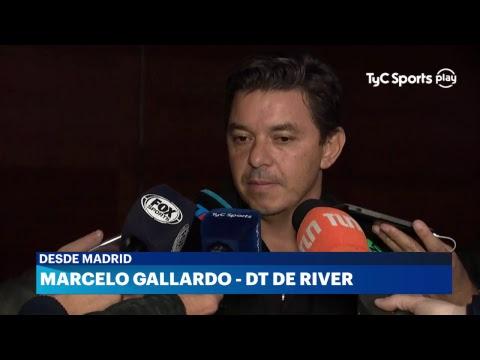 Marcelo Gallardo en conferencia de prensa