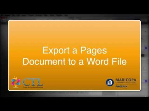 Export A Pages Document To A Word File