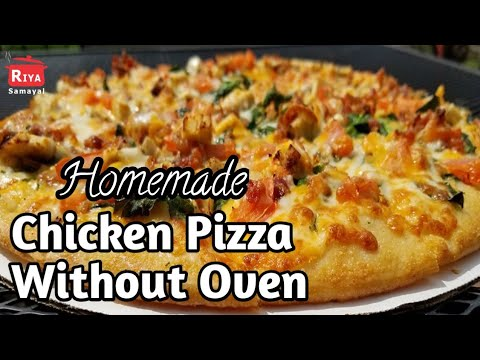 Homemade Pizza Without Oven RiyaSamayal Tamil
