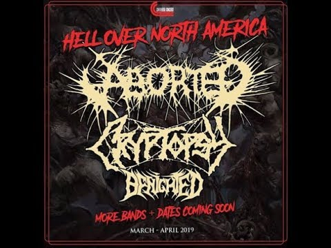 Aborted HELL OVER NORTH AMERICA tour 2019 w/ Cryptopsy and Benighted!