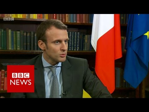 Emmanuel Macron on EU Referendum and Hinkley Point - BBC News