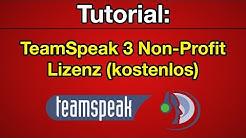 Tutorial: TeamSpeak 3 Non-Profit Lizenz (512 Slots) [Deutsch] [HD]