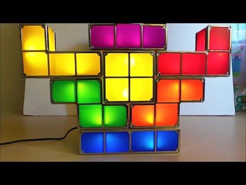 Tetris Retro Game Stackable LED Desk Lamp Review YouTube