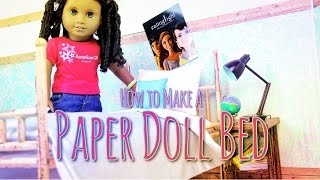 How To Make A Doll Bed Out Of Paper  - Doll Crafts
